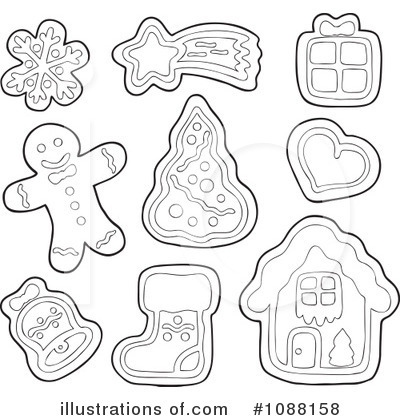 Gingerbread Man Clipart #1088158 by visekart