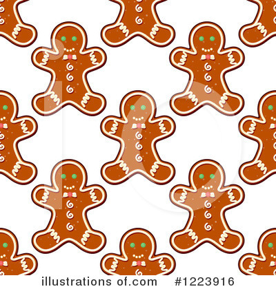Gingerbread Cookie Clipart #1223916 by Vector Tradition SM