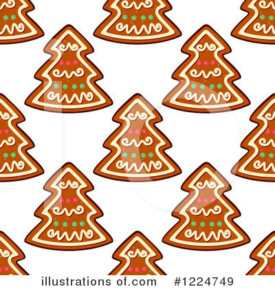 Gingerbread Clipart #1224749 by Vector Tradition SM