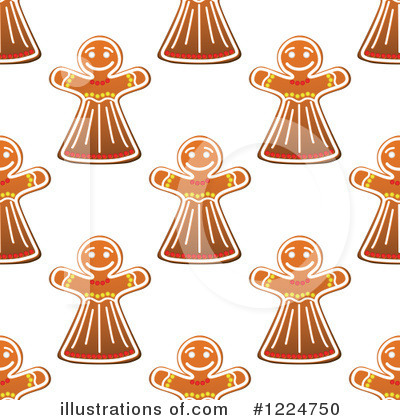Gingerbread Clipart #1224750 by Vector Tradition SM