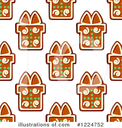 Gingerbread Clipart #1224752 by Vector Tradition SM