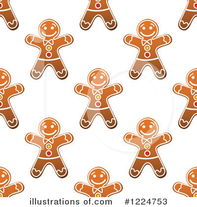 Gingerbread Clipart #1224753 by Vector Tradition SM