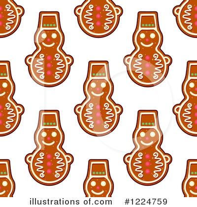 Gingerbread Clipart #1224759 by Vector Tradition SM