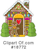 Royalty-Free (RF) Gingerbread Clipart Illustration #18772