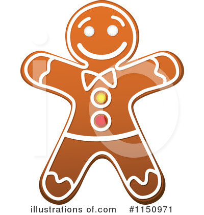 Gingerbread Clipart #1150971 by Vector Tradition SM