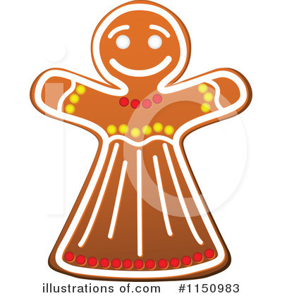 Gingerbread Woman Clipart #1150983 by Vector Tradition SM