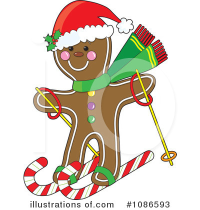 Gingerbread Clipart #1086593 by Maria Bell