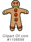 Gingerbread Man Clipart #1106599