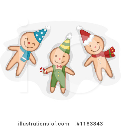 Gingerbread Man Clipart #1163343 by BNP Design Studio