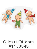 Gingerbread Man Clipart #1163343