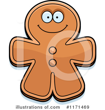 Gingerbread Man Clipart #1171469 by Cory Thoman