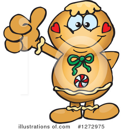 Gingerbread Man Clipart #1272975 by Dennis Holmes Designs