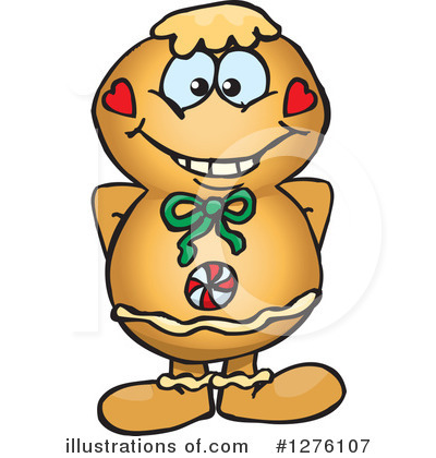 Gingerbread Man Clipart #1276107 by Dennis Holmes Designs