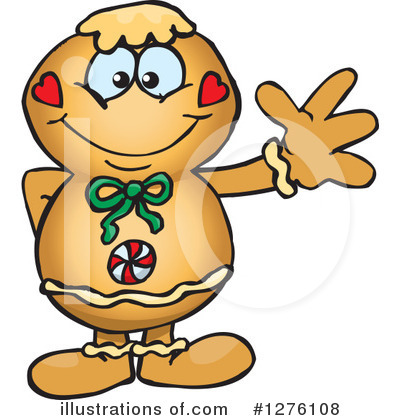 Gingerbread Man Clipart #1276108 by Dennis Holmes Designs