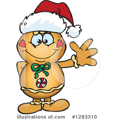 Gingerbread Man Clipart #1283310 by Dennis Holmes Designs