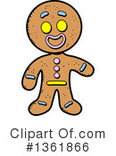 Royalty-Free (RF) Gingerbread Man Clipart Illustration #1361866