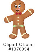 Royalty-Free (RF) Gingerbread Man Clipart Illustration #1370994