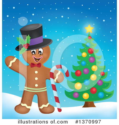 Gingerbread Man Clipart #1370997 by visekart