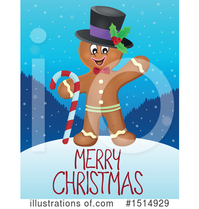 Gingerbread Man Clipart #1514929 by visekart