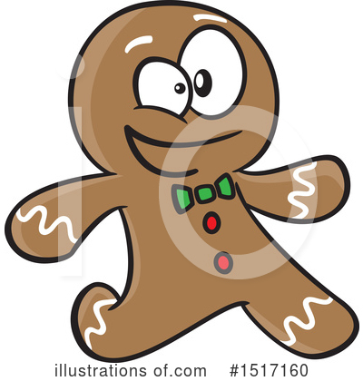 Gingerbread Man Clipart #1517160 by toonaday