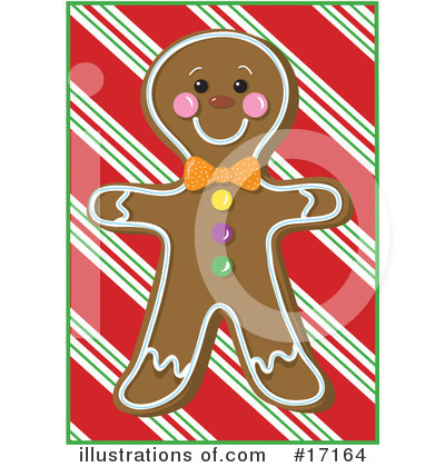 Gingerbread Man Clipart #17164 by Maria Bell