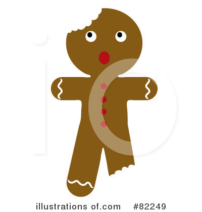 Gingerbread Man Clipart #82249 by Pams Clipart