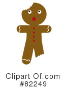 Gingerbread Man Clipart #82249