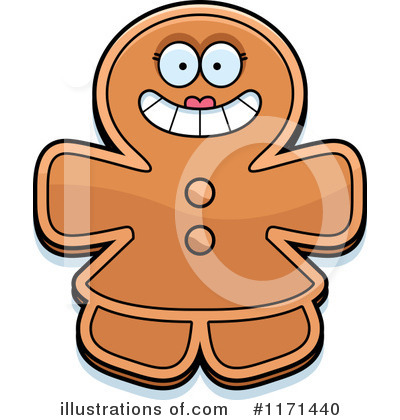 Gingerbread Woman Clipart #1171440 by Cory Thoman