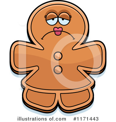 Gingerbread Woman Clipart #1171443 by Cory Thoman