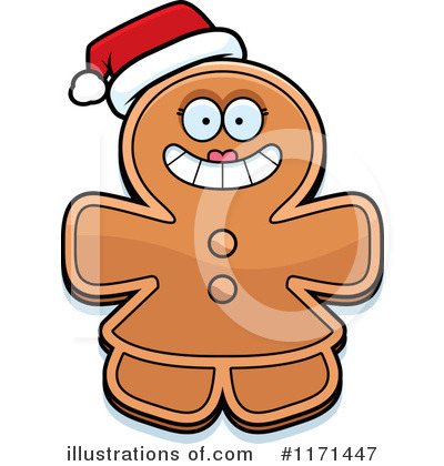 Gingerbread Woman Clipart #1171447 by Cory Thoman