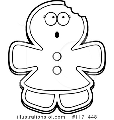 Gingerbread Woman Clipart #1171448 by Cory Thoman