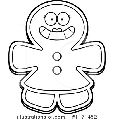 Gingerbread Woman Clipart #1171452 by Cory Thoman