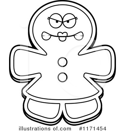 Gingerbread Woman Clipart #1171454 by Cory Thoman