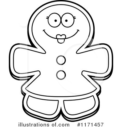 Gingerbread Woman Clipart #1171457 by Cory Thoman