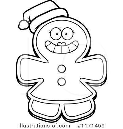 Gingerbread Woman Clipart #1171459 by Cory Thoman