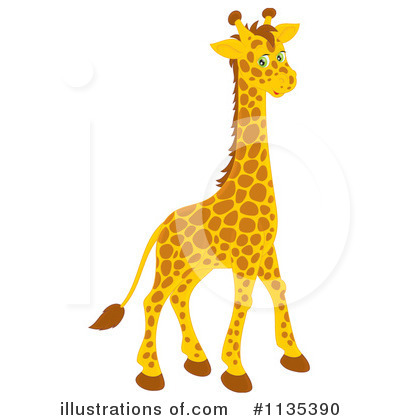 Giraffe Clipart #1135390 by Alex Bannykh
