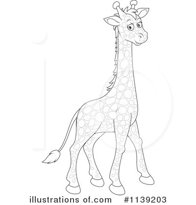 Giraffe Clipart #1139203 by Alex Bannykh