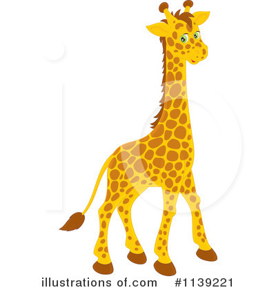Giraffe Clipart #1139221 by Alex Bannykh