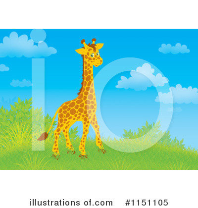 Giraffe Clipart #1151105 by Alex Bannykh