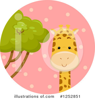Giraffe Clipart #1252851 by BNP Design Studio