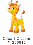 Royalty-Free (RF) Giraffe Clipart Illustration #1266815