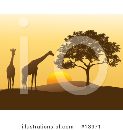 Royalty-Free (RF) Giraffe Clipart Illustration by Rasmussen Images - Stock Sample #13971
