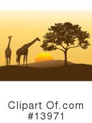 Royalty-Free (RF) Giraffe Clipart Illustration #13971