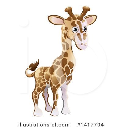 Royalty-Free (RF) Giraffe Clipart Illustration by AtStockIllustration - Stock Sample #1417704