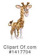 Royalty-Free (RF) Giraffe Clipart Illustration #1417704