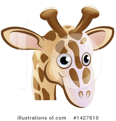 Giraffe Clipart #1427610 by AtStockIllustration