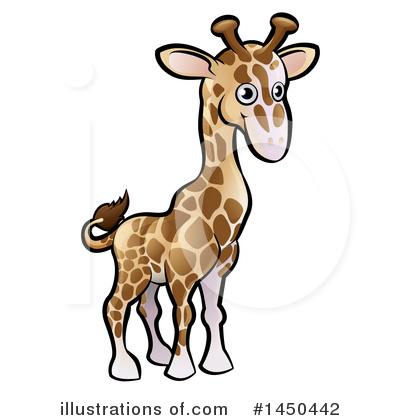 Giraffe Clipart #1450442 by AtStockIllustration