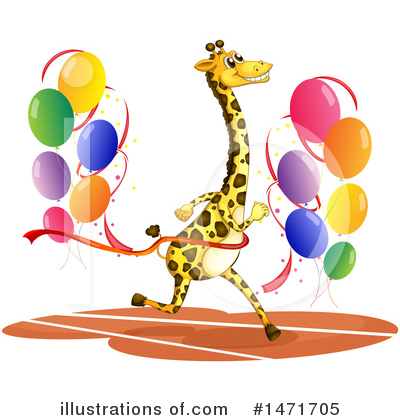 Royalty-Free (RF) Giraffe Clipart Illustration by Graphics RF - Stock Sample #1471705