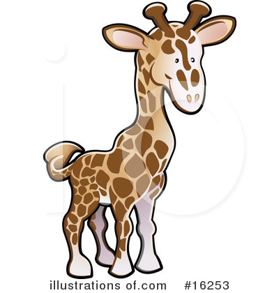 Giraffe Clipart #16253 by AtStockIllustration