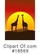 Royalty-Free (RF) giraffe Clipart Illustration #18569